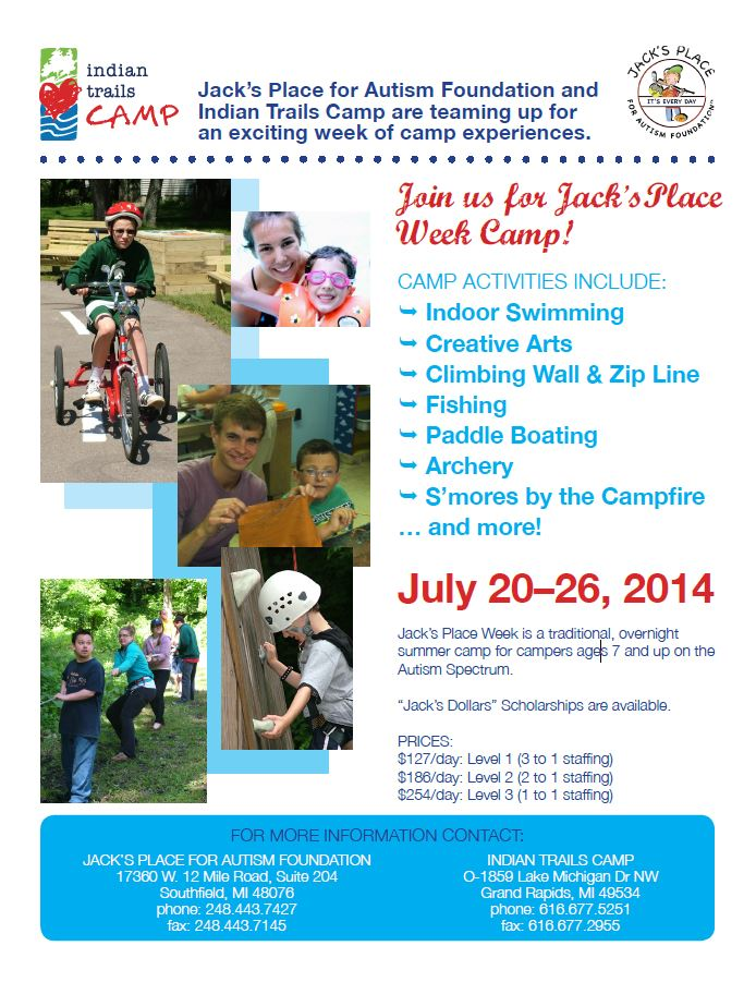 Summer Activities - JACKS PLACE For Autism Foundation